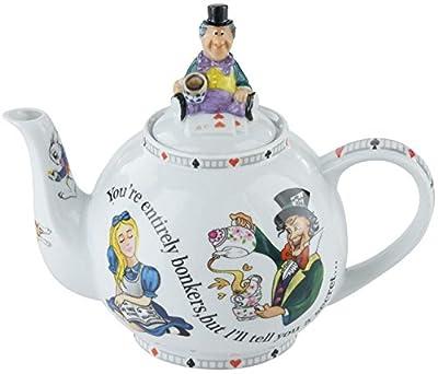 """Cardew Alice au pays des merveilles 4de tasse de Chapelier fou Tea Party """"vous êtes Bonkers"""" Théière 850,5gram"""