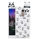 HopMore Funda para Xiaomi Redmi 5 Plus Silicona Motivo 3D Divertidas Unicornio Panda Bonita TPU Gel Ultrafina Slim Case Antigolpes Cover Protección Carcasa Dibujo Gracioso - Pequeño Panda