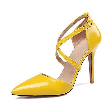 Da donna-Tacchi-Formale Serata e festa-Altro-A stiletto-Finta pelle-Nero Giallo Rosa Bianco Yellow