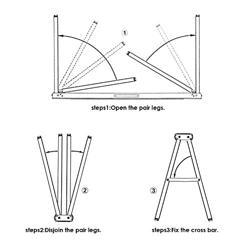 FEMOR 2 Stück Falt-Arbeitsböcke Klappbock bis 120kg belastbar platzsparend - 4