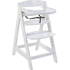 Roba Seggiolone Evolutivo 'sit Up Maxi', Seggiolone in Legno Taglia Extra Incluso Vassoio e Staffa di Protezione, da…