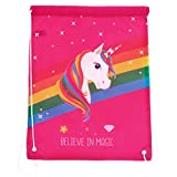 Sport Jogging Unicorno Unicorn 42 x 34 cm con vari detti, Believe in magic