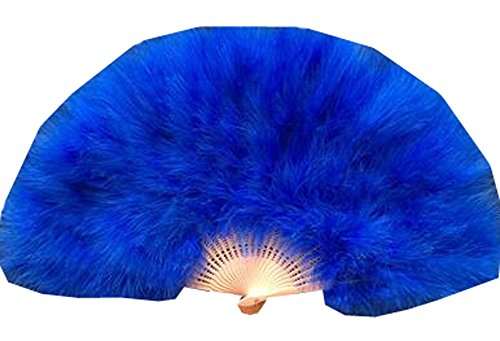 Faltender Feder-Ventilator / Tanzender Fan / Laufsteg Führen Sie Fan 50x30CM (Blau) (Koreanische Fan-tanz)