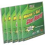 Casabella 5 Piece Mouse Trap Non-Toxic Glue Pad Safe For Pets And Children (5 Pcs)