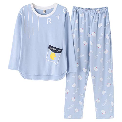 Wsxxnhh Pajamas Women's Autumn Cotton Long-Sleeved Women Can Wear A Home Service Suit Princess Wind Girl Cute Spring and Autumn Can Be Worn