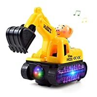 Uyuke Simulation Excavator Toys With Light Music Truck Toys Engineering Car Toys for Kids Children