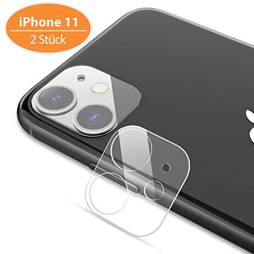 TINICR Kamera Panzerglas Schutzfolie für iPhone 11 - [2 Stück] 0,2 mm Ultradünner 9H Härte Kratzfester Schlagfester Ultraklar Linsen Schutzglas Kameraschutzfolie für iPhone 11 (6.1 Zoll)