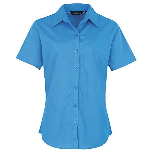 Premier Workwear Ladies Short Sleeve Poplin, Blouse Femme Saphir