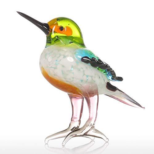prbll Geschenk Glas Tierfigur Miniatur Figuren Handblown Home Decor Moderne kleine Vögel Dekor Dekoration Zubehör