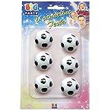 Big Party CC43001 - Velas en Forma de balón de fútbol, Color Blanco y Negro