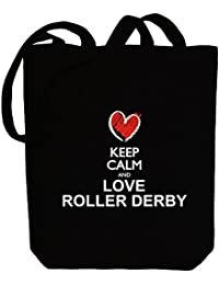 Idakoos Keep calm and love Roller Derby chalk style - Deportes - Bolsa de Lona