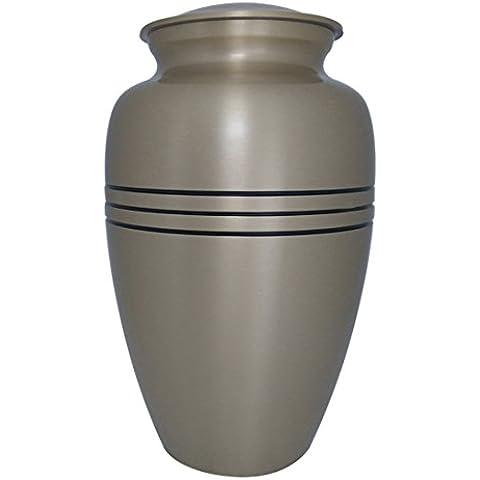 Grandes Urnas para cenizas de los humanos, tres bandas clásicas compañero urna funeraria de juego