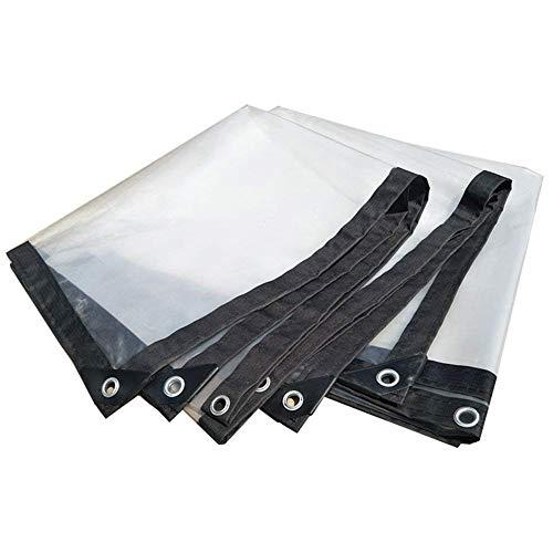 SACYSAC Balkonmarkise Block Fenster Wasserdicht Plane Sonnenschutz transparent Kunststofffolie Outdoor, 1 * 2m