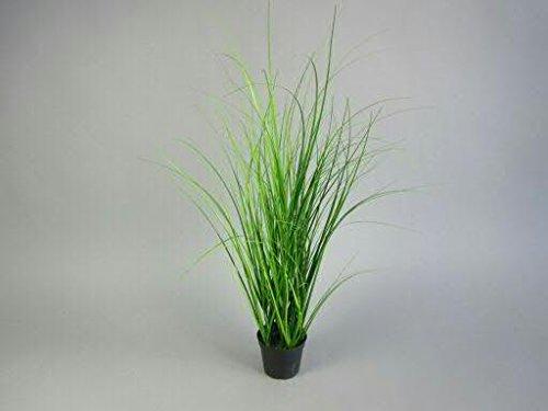 Dekogras im Topf - Künstlich & Naturgetreu - Klein: 60cm - Gras / Grasbüschel / Grasbusch / Grasbündel / Ziegras / Ufergras / Kunstgras getopft - Zeitlose Dekoration - Tischdeko