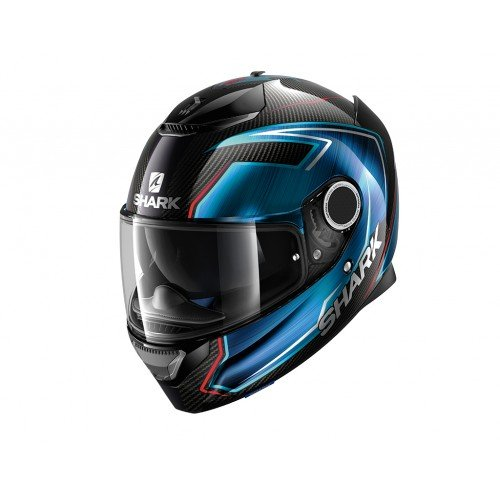 Shark Casco di moto Spartan Carbon Guintoli Dub, Nero/Blu, Taglia L