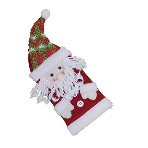BESTOYARD Weihnachten Weinflasche Abdeckung Tasche für Weihnachten Küche Geschirr Dekoration Freunde (Santa Claus) -