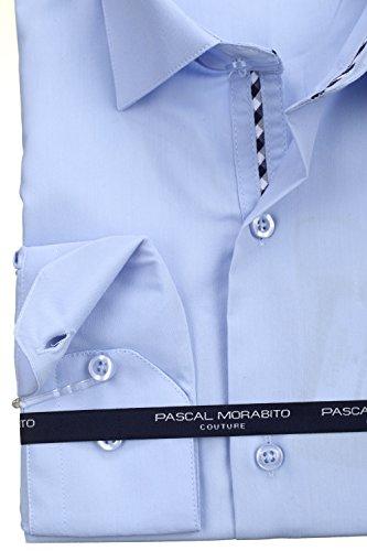 Pascal Morabito - Chemise habillée Mrt058 Ciel Bleu