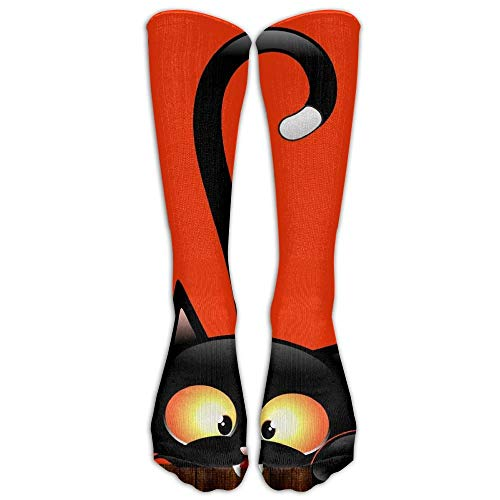Halloween Three Black Cat MenHip-hop 3D Print Sport BascketBall Socks
