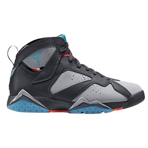 Nike Herren Air Jordan 7 Retro Fitnessschuhe, Grau/Blau/Vergoldet (Drk Trqs Bl-WLF Gry-TTL Or-), 46 EU (Retro Blau 7)