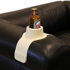 Idea Regalo - CouchCoaster Portabicchiere per divano, Beige (Cool Cream)