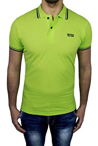 Maglia polo uomo Hugo Boss verde chiaro maniche corte casual shirt (L)