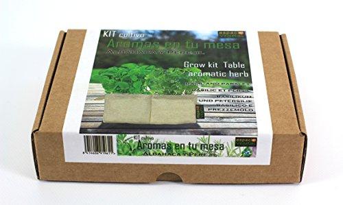 Kit Arômes dans votre table. Basilic et persil.