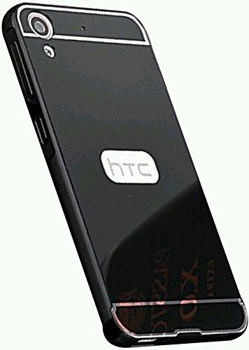 HTC DESIRE 816/816G CASE--ROYAAL(TM) LUXURY METAL BUMPER+ACRYLIC MIRROR BACK COVER CASE FOR HTC DESIRE 816/816G-(BLACK MIRROR)