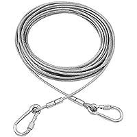 Tresbro Cable para Correr de Perro, Sistema de Correa para Correr con Atado de Perro, 50 pies de Cadena para Perros de hasta 250 Libras