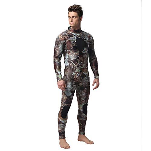 LOPILY Herren Mode Neoprenanzug Surfbekleidung 3MM Ganzkörperanzug Schwimmanzug Tauchanzug Schwimmen Surfen Tauchen Sport Badeanzug Wetsuit Schnelltrocknend(Kaffee,L) -