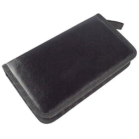 Petit Monde CD à anneaux Portable DVD support disque de stockage Wallet 80Capacity CD Jewel Case Noir classique