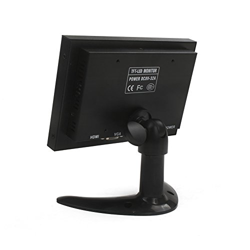MonkeyCity 7 Inch 1024x600 CCTV Monitor by using BNC HDMI VGA AV Monitors