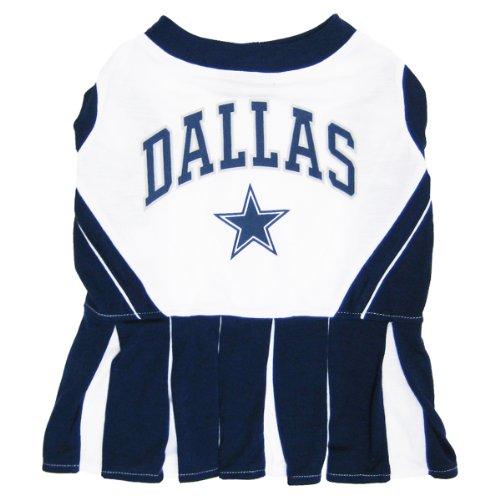 NFL Cheerleader für Hunde und Katzen.–alle 32Teams und 3Größen erhältlich.–NFL Cheerleader Kleid.–Cheerleader Outfit für (Cheerleader Outfit Cowboy)