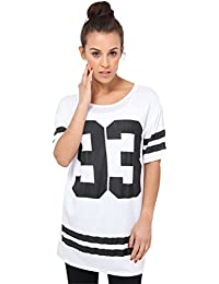 KRISP® Femme Tee Shirt Imprimé Américain Baseball Ample