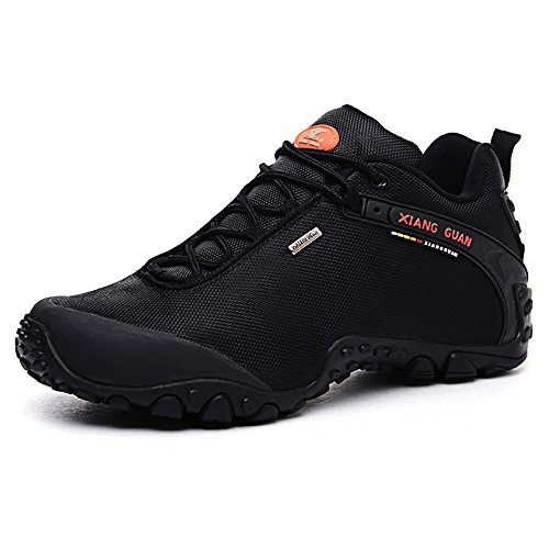 xiang-guan-mens-outdoor-water-repellent-trainers-low-top-hiking-shoes-trekking-shoes-81283-black-eu-