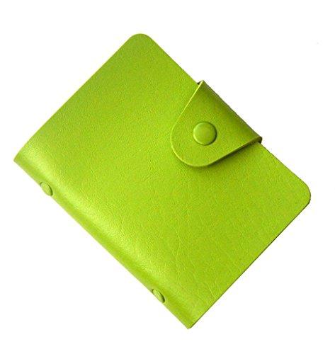 Visitenkarten-Mappe, Karten-Mappe, Kreditkarteninhaber, Kreditkartenetui bis zu 24 Karten - Grün