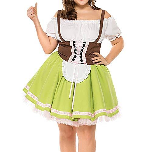 Figur Kostüm Shrek - Cuteelf Frauen Bandage Größe Bayern Oktoberfest Kleidung Bar Frauen Dirndl Beer Festival Größe Maid Kostüm Kleid Größe Schulterfrei Sexy Retro Style