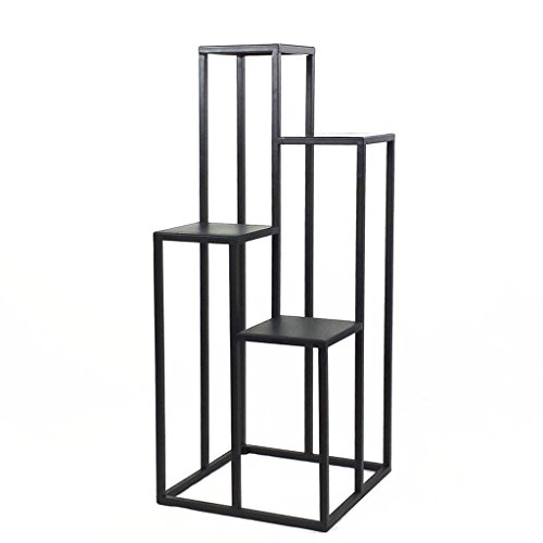 LJ Einfache Eisen Blume Rack Wohnzimmer Balkon Multilayer Leiter Bonsai Rahmen ( größe : 40*40*100cm )