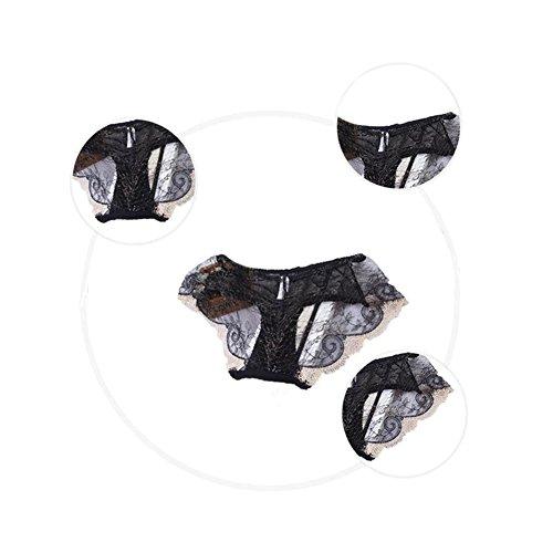 Meijunter 2Pcs Girls Damen Embroidery Lace Blume Transparent Höschen Niedrige Taille Slip 12#