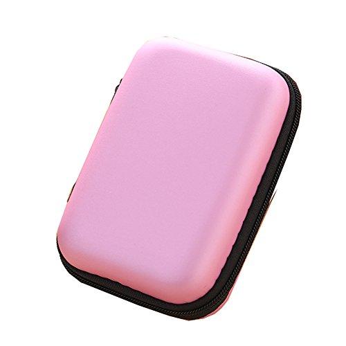 Ipod Nano In-ear-headset (Dosige Kopfhörer Tasche Earphone Case Aufbewahrungstasche für Headset/In Ear Ohrhörer/ MP3 Player/iPod/Nano/Schlüssel Pink)