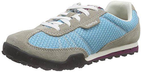 Timberland Greeley_greeley Low, Baskets Basses femme Bleu - Blau (Lite Tan/Blue)