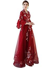 Robe de Demoiselle d honneur de Mariage élégant tempérament Grande Taille  Mince Une Robe de soirée en Ligne Ailin Home (Couleur… 7e4ab488b92