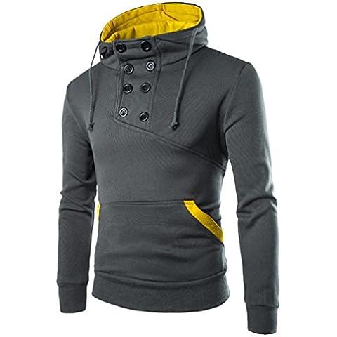 OverDose Men Retro Long Sleeve Hoodie Hooded Sweatshirt Tops Jacket Coat Outwear
