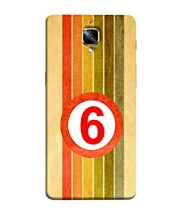 PrintVisa Designer Back Case Cover for Oneplus 3T (Pattern six numbers stripes colour)