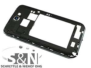 Original Samsung Galaxy Note 2 GT-N7100 Mittelgehäuse Cover Display Rahmen schwarz
