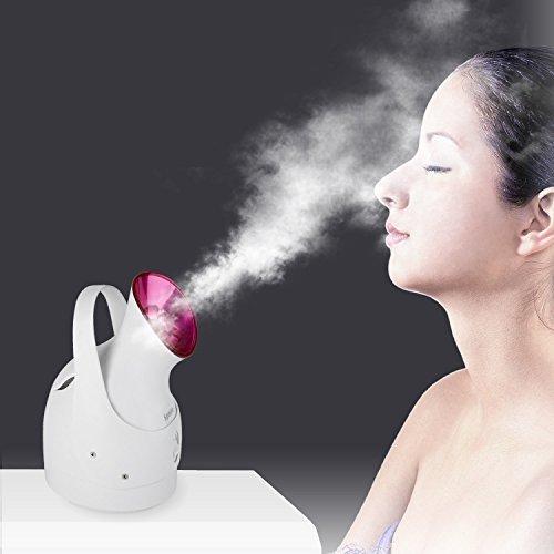 Spaire Gesichtssauna Gesichtsdampfer Nano Ionic Tragbar Gesichtssauna Dampf Inhalator für dauerhafte Feuchtigkeit, Porenreinigung und Hautpflege