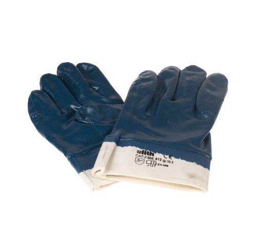 Nitril-Arbeitshandschuhe blau