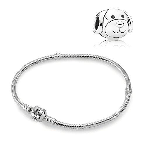 Original Pandora Geschenkset Starterset Charm 791707 Liebevoller Hund + Armband 590702HV-18