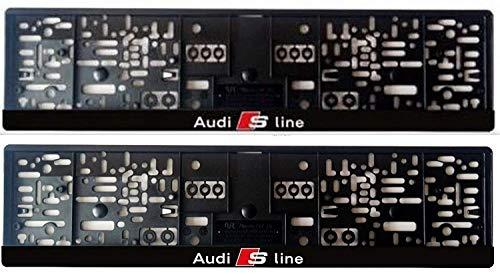 A.U.D.I. 2X Kennzeichenhalter Kennzeichenhalterung schwarz für Audi S-line