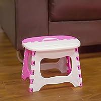 UPOSS Taburete plegable de color rosa portátil y plegable, mini asiento para casa o al aire libre