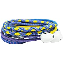 Crossloop Designer Series 3.5mm Universal In-Ear Headphones With Mic And Volume Control (Yellow, Purple & Blue)